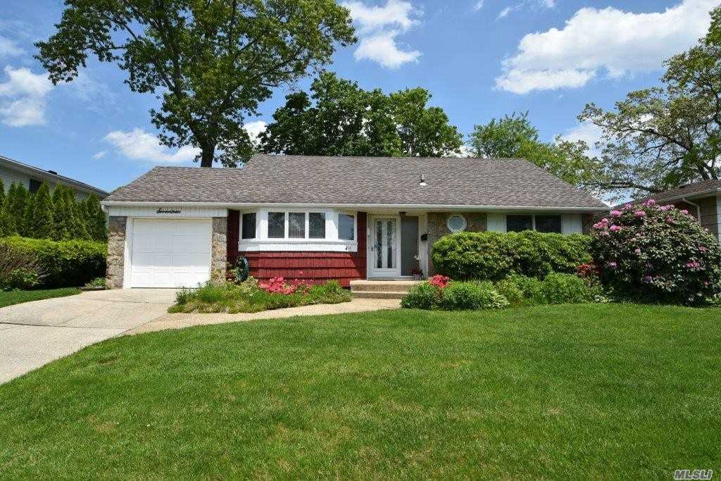 Well Maintained Ranch in Perfect Mid Block Location-Updated Kitchen and Bath-All Wood Anderson Windows Throughout-Rear Extension with Inviting Family Room or 4th Bedroom with Outside Entrance to Picturesque Backyard-Low Taxes-Come Make This House Your Next Home!