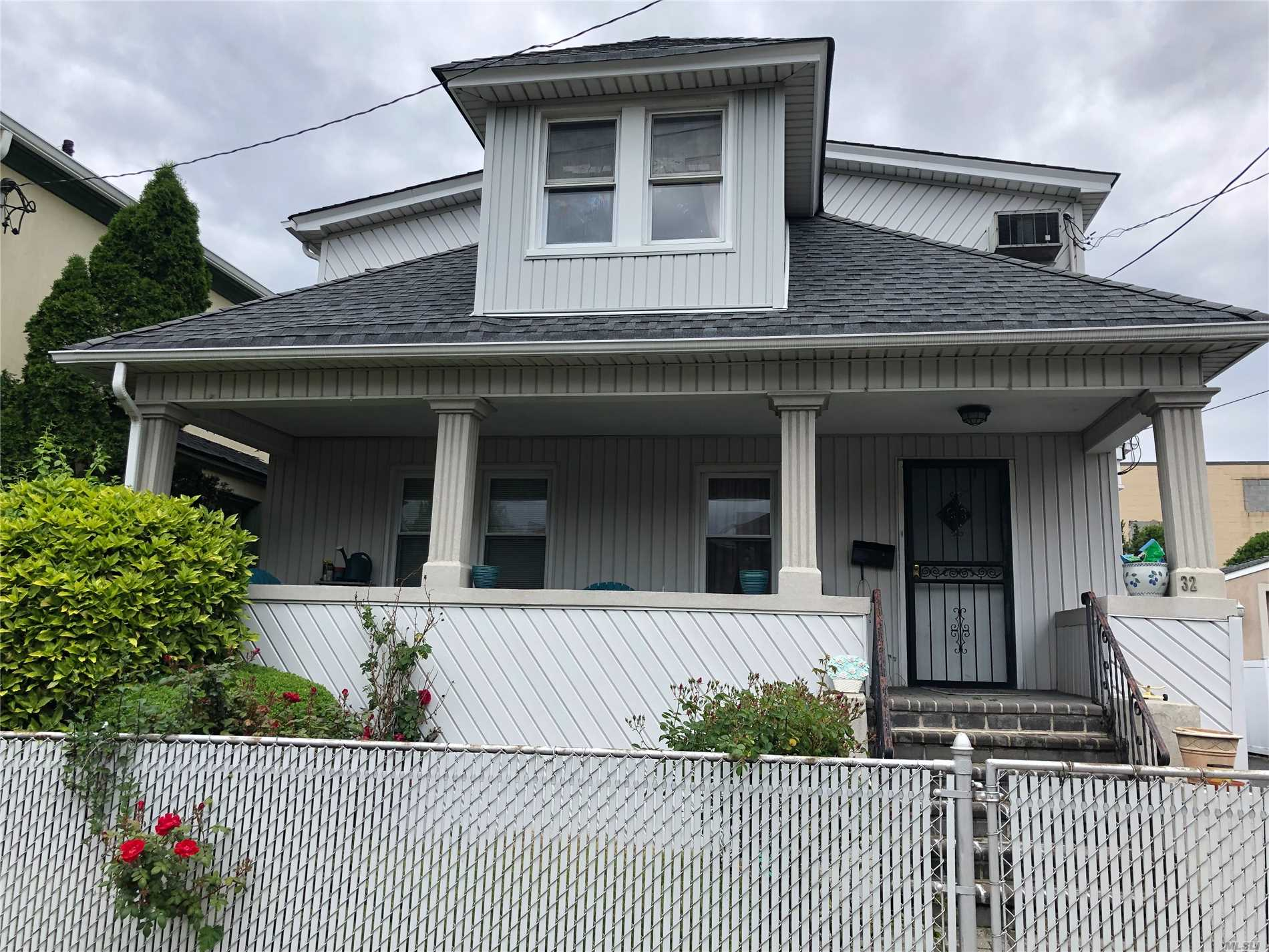 Legal 2 family home. Large 2 bedroom over 3 Bedroom. Gas for cooking and Dryer.