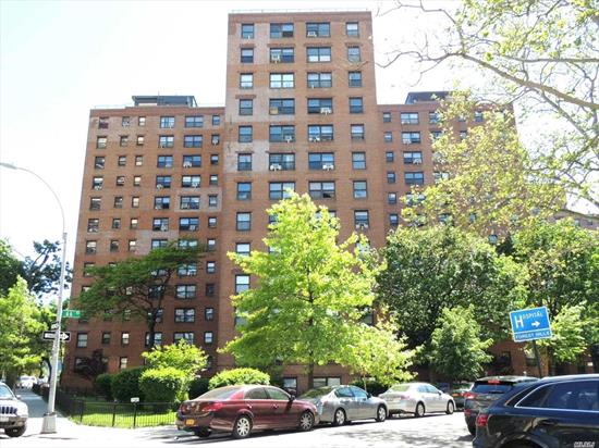 Spacious Full 2 Bedroom/1 Bath in very well managed coop complex The Howard. Pet friendly Fireproof Buildings situated on the boarder of Rego Park and Forest Hills, within just steps to R and M trains to Manhattan, local buses and all types of shopping and houses of worship. Building Features: Shared Laundry Room in The Lobby Level, Sublet After 2 Years Indefinitely with Board Approval. No Flip Tax, No Current Assessment. Available Indoor/Outdoor Parking