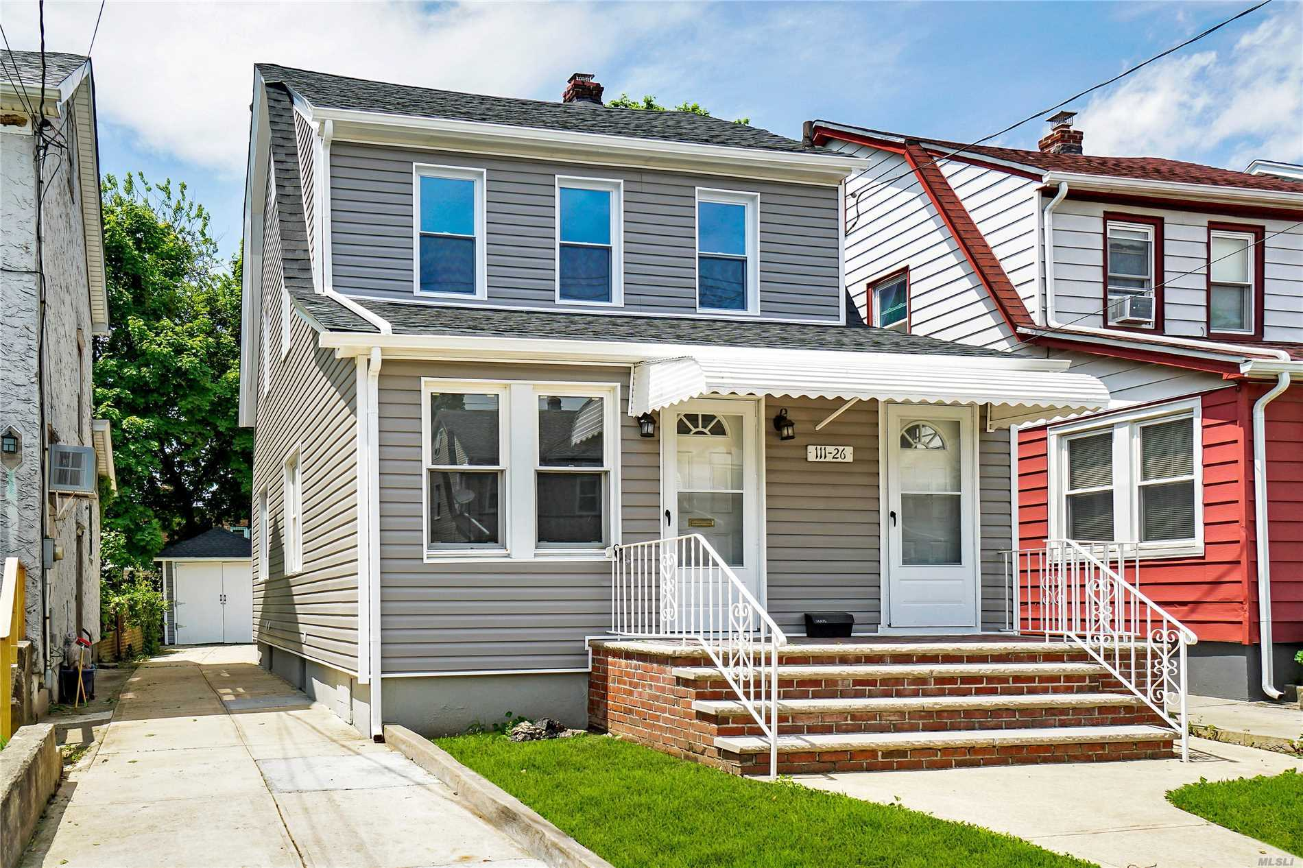 Queens Village - Totally Renovated 3 Bedroom, 2 Bathroom. Private Driveway and Detached Garage.