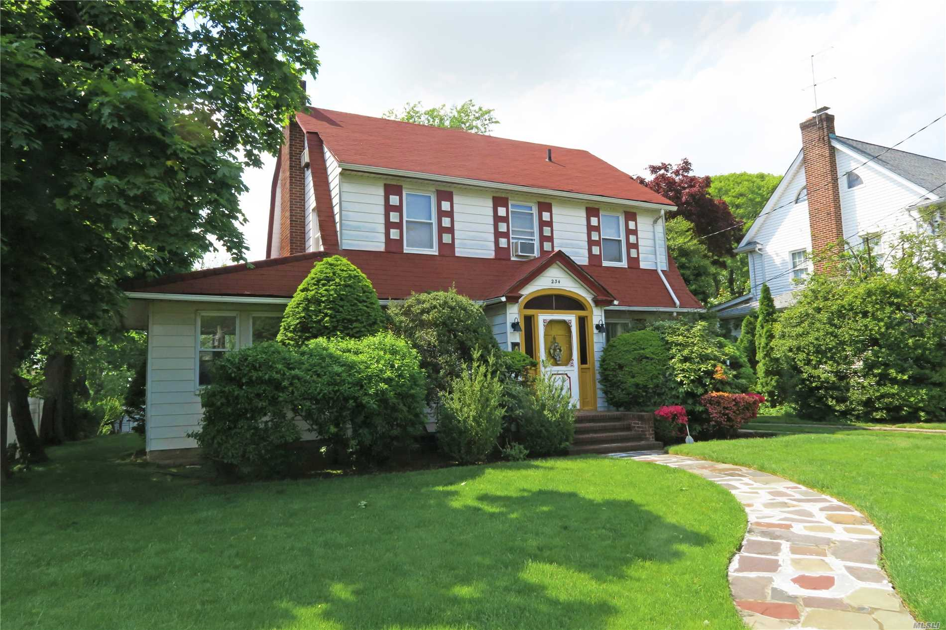 Grand Center Hall Colonial With 3 Bedrooms 2.5 Baths On A Beautiful, Private Oversized Property. Spacious Living Area Includes Living Room w/ Wood Burning Fireplace, Formal Dining Room, Sunroom/Family Room With Skylight, Eat In Kitchen .5 Bath. Second Floor Large Master Bedroom/Full Master Bath, 2 Bedrooms And Full Bath, Stairs To Fully Finished Attic w/ Heating and Cooling, Finished Basement, Great For Entertaining Inside And Out. Room For All!  Central Station Alarm. Near Park, Schools, Shopping, Transportation. Taxes Are Being Grieved