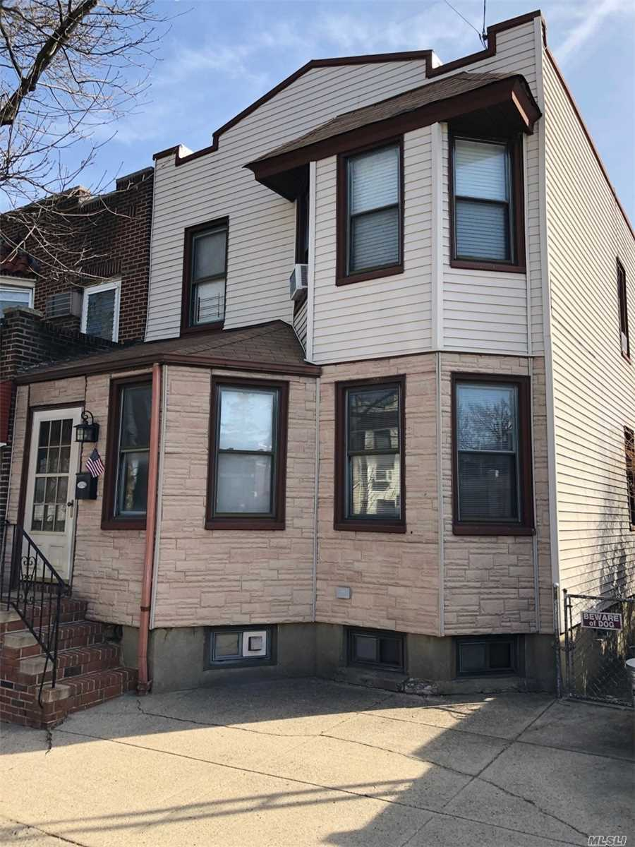 Well Maintained Beautiful Sunny Fully Renovated 2 family house with 5 bedrooms, near public transportation, shops, banks, schools, wood floors, 3 full bahts. Semi detached, Parking.