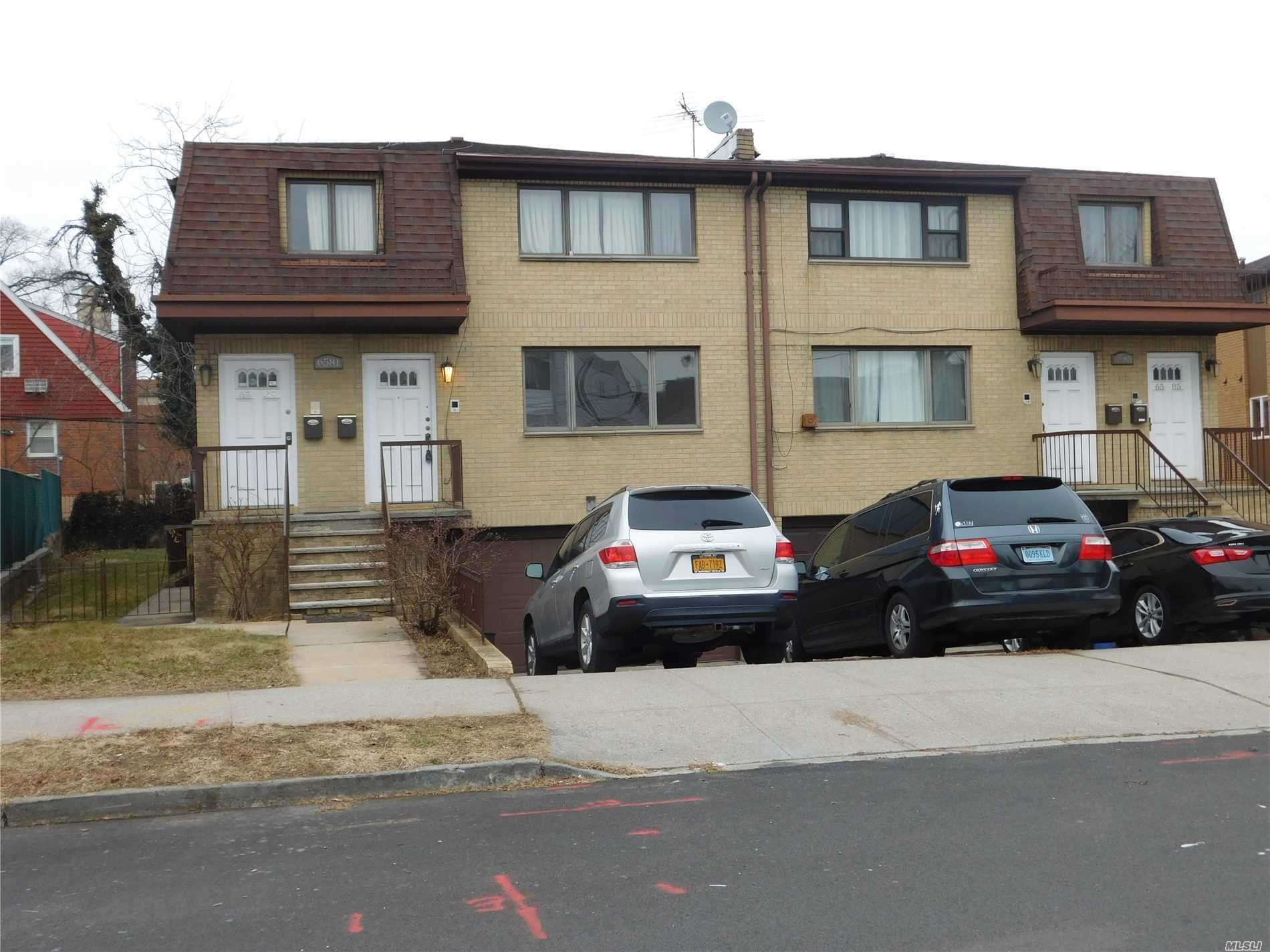 1, 400 Square Feet, 3 Bedroom, 2 Bath Apartment On 1st Floor Of Private Home With A Private Entrance, Eat In Kitchen, Large Living/Dining Room. Hardwood Floors Throughout. Balcony & Use Of Backyard. Additional Storage & Washer/Dryer in Basement. One Parking Space Available. Heat Is Included.