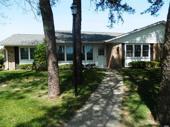 Very well maintained Regency with a beautiful location. Updated windows, custom window treatments in porch and living room, new garage and garage door opener, long driveway, sun room is fully finished and can be used year round as an office or a den. Guest parking in front of the condo available. Taxes with enhanced STAR are $2, 333.69. Sale subject to terms and conditions of offering plan. Leisure Village has a one pet policy.