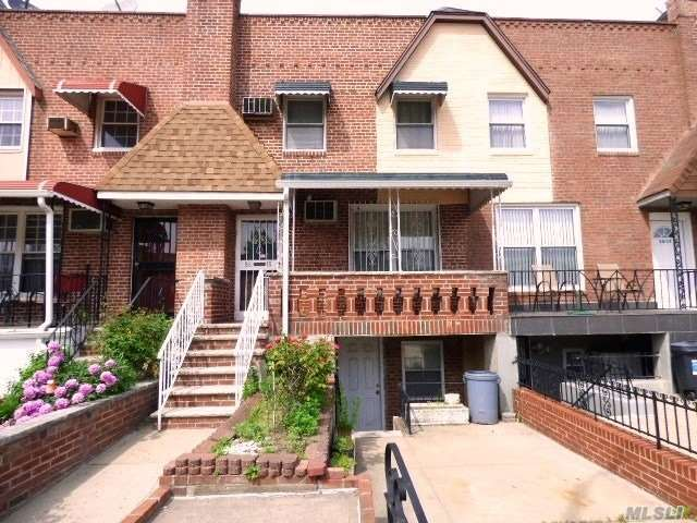 Great Area! On the border of Astoria and Woodside. Big back yard, Large deck, Balcony . Living room, Dining room, Kitchen, 3 bedrooms, 1.5 Bathrooms, Full Basement, Ample Closet Space. On the 2nd Floor Wood Floors through out Under the Carpets. Walking distance to M+R Trains, also Q18 Bus around the corner. Very quiet dead end street.