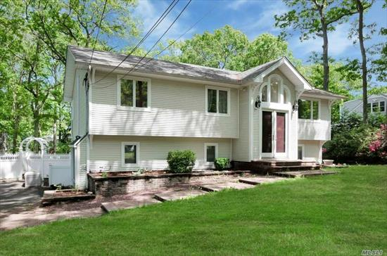 THIS UPDATED HOME IN MIDBLOCK LOC ON A 1/2 ACRE OF PROF.LANDSCAPED PROPERTY FEATURES AN UPDATED S/STEEL.GRANITE EIK, 2 UPDATED BATHS, NEW CAC, HARDWOOD FLOORS, CROWN MOLDINGS, NEWER ROOF AND WINDOWS.