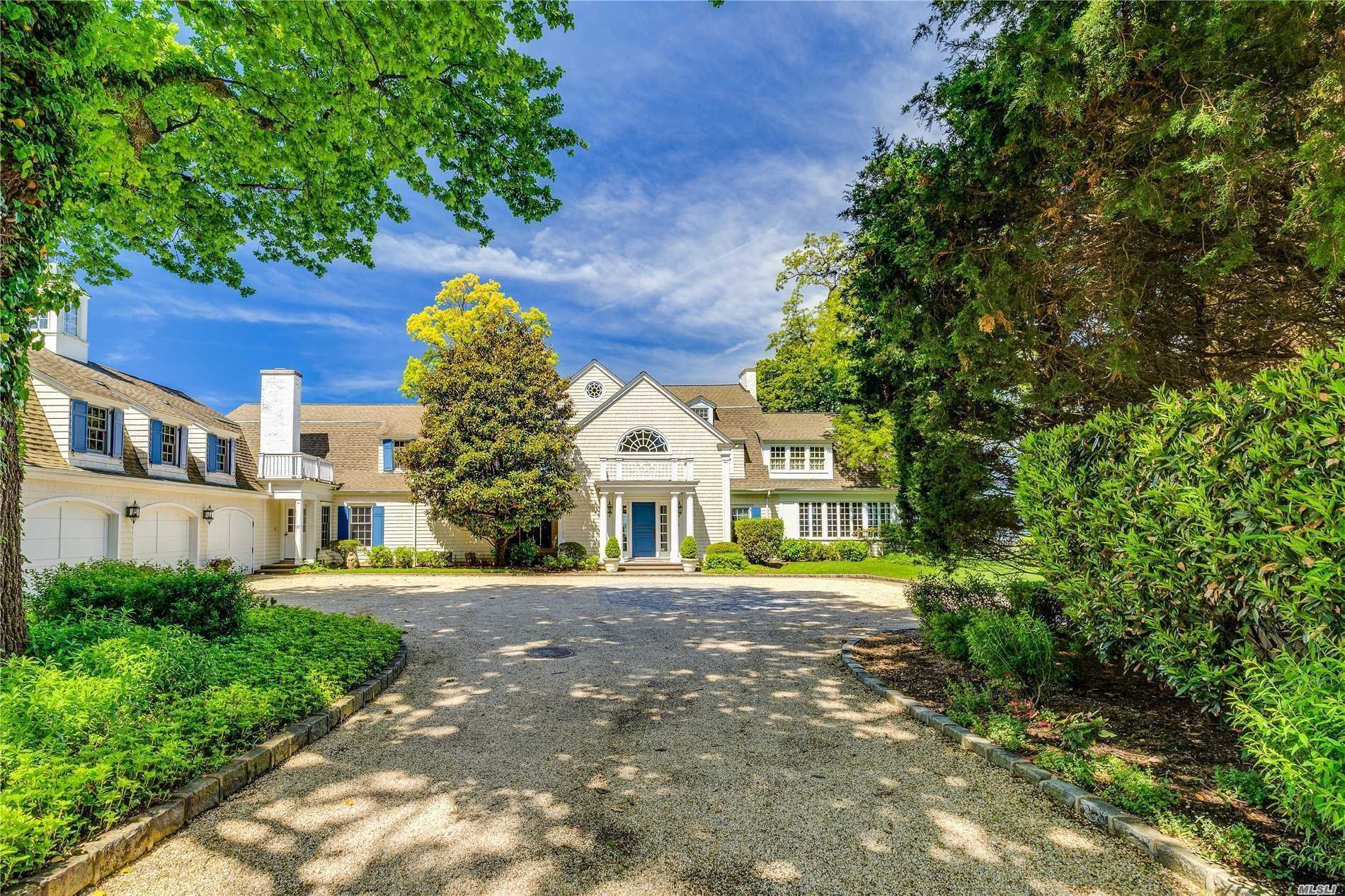 One Of The Finest Waterfront Homes In Sands Point , Hampton Style Colonial, 8317 Sq Ft Home, On 1.75 Acres, Offering Water Views From Virtually Every Room. Gourmet EIK Kitchen, 2 Dens, Classic Interior, Beautiful Views Of The Long Island sound, 3 car garage, Waterside 25X50 Heated Pool, Generator, World Class Dock. Featured On Many Television Shows & Movies! See Attachments for all extra amenities .....Won't Last! 3D tour attached to the listing.