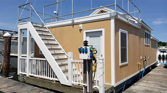 One of a kind Houseboat built 2 years ago as a new construction!! It features one bedroom, full bath, L/R, E/I/K with dining area, plenty of storage space, washer/dryer, 2 Fujitsu units (A/C & heat) and upper deck for entertainment. All furniture is included! The houseboat is available for immediate occupancy. Slip fee is $1, 000/month. Cash transaction only!!