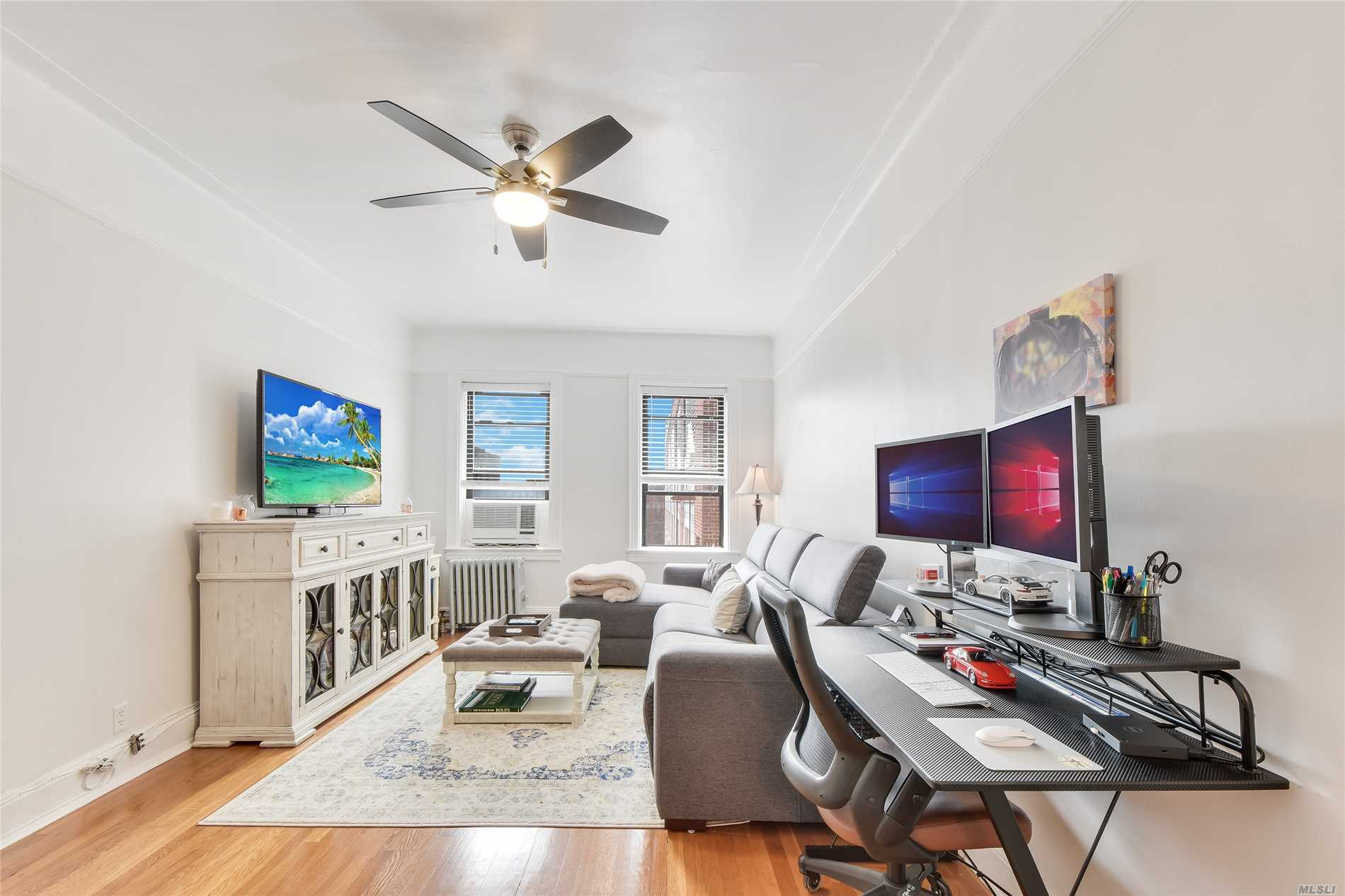Available July 1, 2019. Sorry, no pets or guarantors. Applicants must earn 40x the monthly rent and have 700+ credit. Board interview and approval required! Fully-renovated gem in Jackson Heights on the prized 34th Avenue!