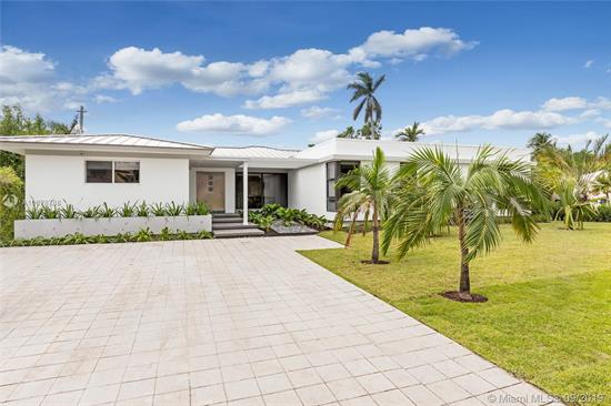 Located On One Of The Most Private + Prestigious Streets In Miami Beach! Completely Renovated, 5 Bed /5.5 Bath Home On Oversized 11, 000 Sf Corner Lot W/ 2 Separate Driveways, Lots Of Parking. Single Story Contemporary Home Exudes True Miami Beach Style. Full Renovation Completed In 2017, New Roof, Brand New A/C, Hurricane Impact Windows & Doors, Security System, Smart Home Tech. Italkraft Kitchen, Built-In Wolf Professional Grade Appliances, Convection Steam Oven, Italian Porcelain Countertops, Wine Cooler, W/ Oversized Eat-In Island. Split Floor Plan, Abundance Of Natural Light, Floor To Ceiling Windows. Pool W/ Brand New Deck, Jacuzzi, Cabana Bath & Built-In Summer Kitchen/Grill. Don'T Miss This Opportunity, Asking Price Has Been Adjusted Over $800K, Priced To Sell!