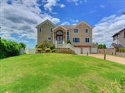 Prime Waterfront Location w/gorgeous Views of the Great South Bay. This 3 Story Colonial Style Home features 5 Bedrooms, 4 Full Baths, Formal Dining Room, Eat In Kitchen & 2 Car Garage, In round kidney shaped pool, Boat Lift and 200 ft of Bulkhead. Don't Miss This Opportunity!