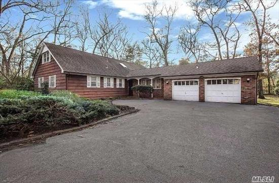 Unique & Custom 5 Bedroom/3 Full Bath Point Of Woods Farm Ranch Set On Private & Level 1.04 Acre Property. Boasting A 2-Story Entry Foyer With Skylight, 21X26' Family Room With Wood Plank Vaulted Ceiling & Gorgeous Stone Fireplace. Huge Basement With Outside Entry Offers Endless Possibilities. Hhh Sd #5 (Vanderbilt, Candlewood Middle And High School West)