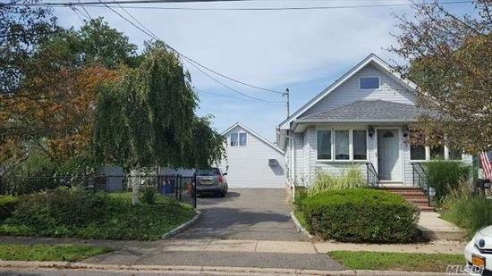 Very Rare Find !!! Cute 2 Bedroom Waterfront Ranch w/ 5'10 Basement. CAC. Updated. Heat & CAC 7 yrs. old. 80' Bulkhead. Backyd. faces west! ALSO: Legal 2 story structure with updated, separate utilities, FBth on the property.