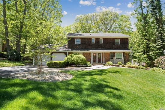 Spacious & Beautiful. 5 Bedrm, Center Hall Colonial, Set On Quiet Tree Lined Street In The Desirable Community Of Smithtown Pines.Featuring New Gourmet Eik Kitchen (2018) W/Quartz Counters, Ss Kitchenaid Appliances, Family Rm W/Fp, Main Flr Laundry & Bedrm. Master Br W/Full Bth & Wic, 3 Add'l Lge Bedrooms & Add'l Bath, Updtd Windows, Roof, Wood Flrs Up & New Wood Main (2018). Sunrm, Private Yard W/Paver Patio w/Water Fall & Igp. Hauppauge Sd#6. & More! Must See! Taxes Being Grieved-See attached.