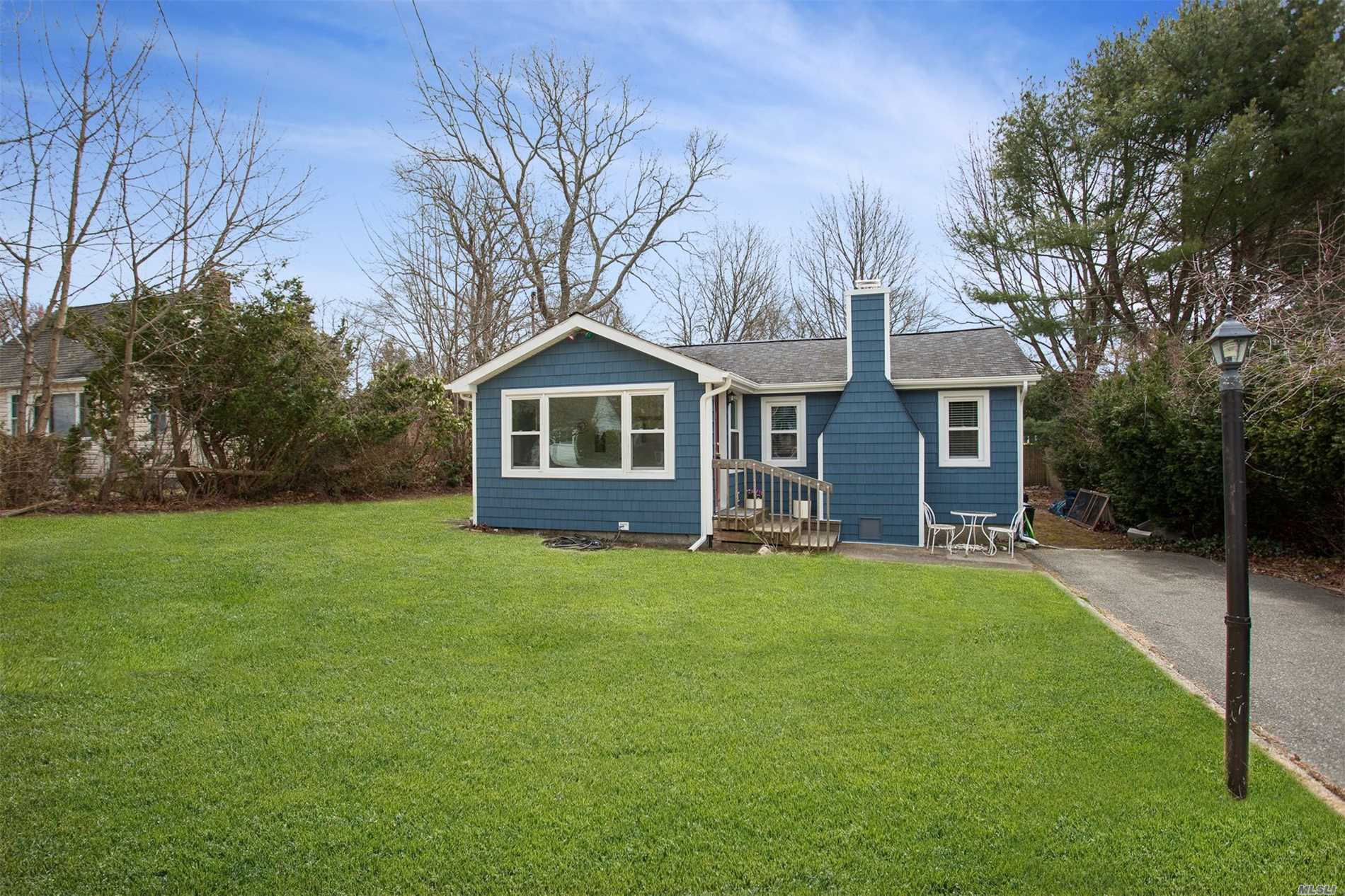 Desirable Patchogue Shores 3 Bedroom 1 Bath Ranch with Heated Enclosed Front Porch, Large Living Room and Dining Room, Eat-In Kitchen. Roth Stainless Steel Oil Tank, New Windows in the last 7-10 Years. Private Community with Club House, Beach Rights and Community Watch!