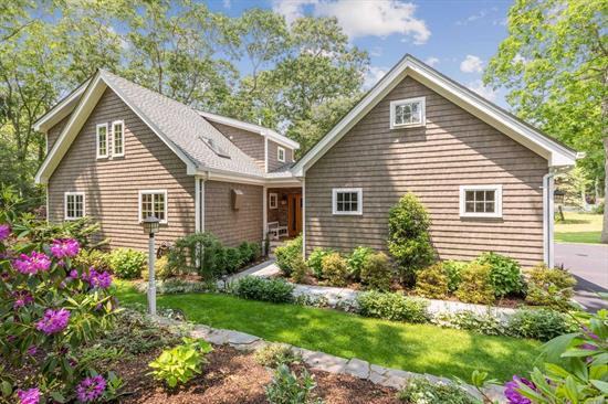 A true Post & Beam quality constructed home, young in age, high energy efficiency, low maintenance, nestled on a private, beautifully landscaped property. MBR 1st. fl. Open layout, vault ceilings, gourmet EIK, FDR. 2nd floor: loft/office, 2 guest BR, full bath. Full partial finished basement: bath, fitness Rm., workshop. Walk to marina, community beach. Winter Waterview of Wickham Creek