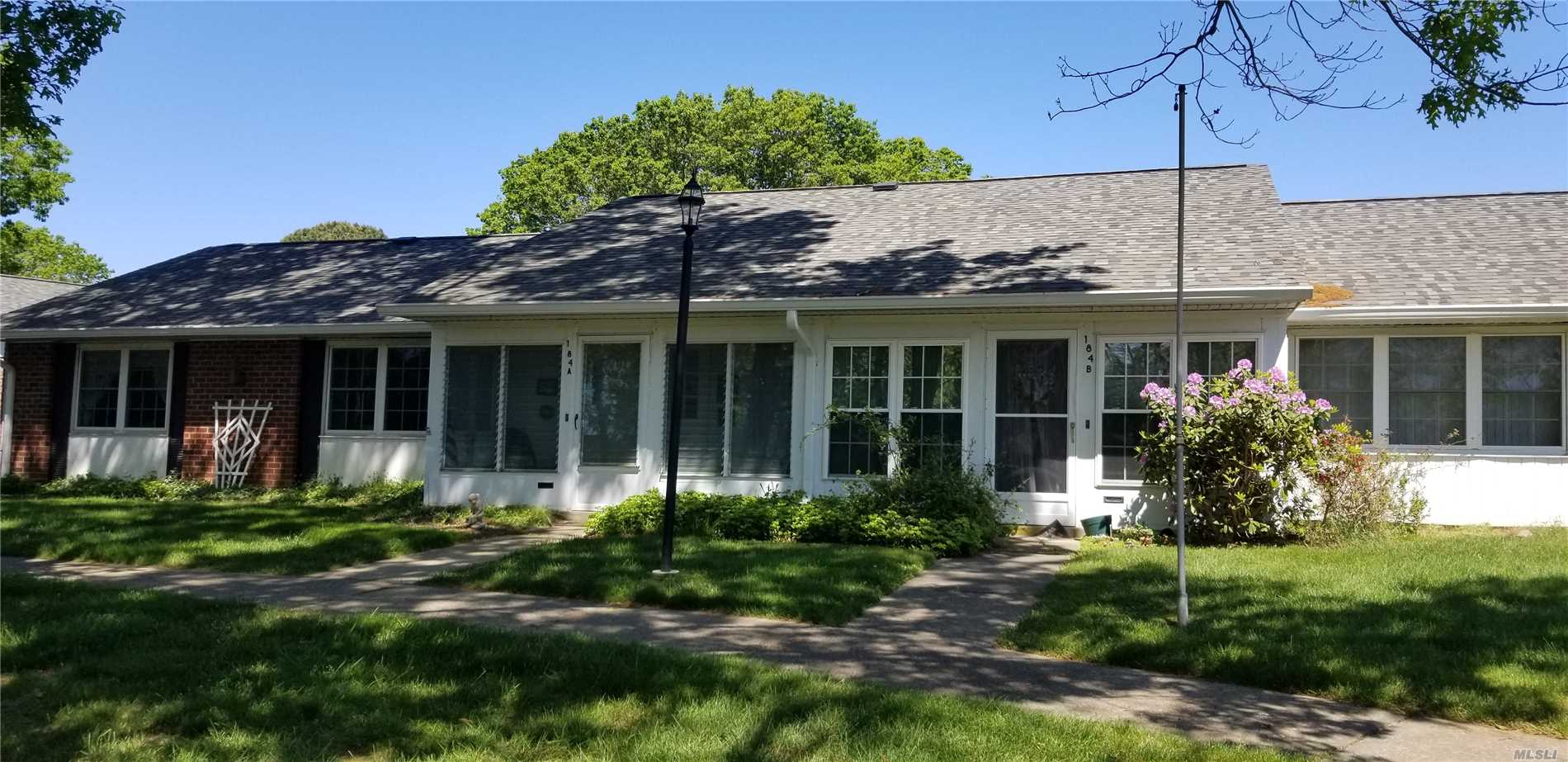 Location Location, only 2 units together, baronet Unit, Large Front Yard, Lots of Natural Sun Light, So many Activities, Golf, Swimming, Ceramic Classes, Wood Shop, Very Active Community, Updated Windows, Updated Garage Door, Updated Bath