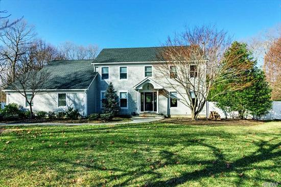 4Bdrm 3Bth Updated Colonial Just Under 1 Acre On Quiet Culdesac Backing To Preserve.Possible Mother/Daughter, 2Car Detached Garage W/Utilities& Loft Above Endless Possibilities.Chefs Kitchen, Subzero&Wolf Appliances.Walk In Pantry, Crown Moldings Throughout, 30X53Inground Pool.Laundry Room On 1 St&2Ndfloor, Huge Master Suite W/Walk In Closet & Dream Bathroom, Full Basement W/ Outside Entrance.Updated Baths, Roof, Siding, Air Conditioning, Brick Patio Pavers, Bock Hot Water Heater, Buderus Boiler, & Much More
