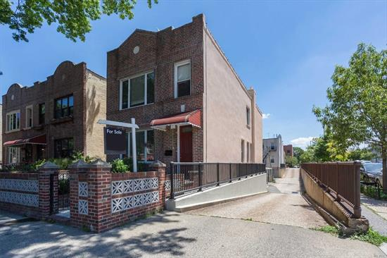 Mint condition and fully detached Ditmars 2 Family home centrally located just a short walk to the N train and Astoria Park. This home has undergone a total interior renovation and both units have new kitchens and bathrooms. 2 car garage + parking, Top floor 3 bedroom w/ dining rm, updated bath and kitchen, 1st floor duplex'd w basement; fully renovated 2 bedroom with LR/DR, 2 full baths. Updated laundry room.This home has undergone a total interior renovation.