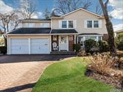 Rare Find! Well-Maintained Colonial in Manhasset Hills located on a tree-lined quiet street. Home features 4 bedrooms 2.5 baths, family room with fireplace & sliders to backyard. Master bedroom suite and 3 additional large size bedrooms. Updates include front siding, roof, brick pavers in driveway. Boiler and unfinished full size basement.