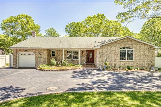 Absolutely Gorgeous One of a Kind Remodeled 4BR, 3.5 Bth Exp Ranch w/Open Floor Plan! EIK w/Toffee Maple Cabs, Granite Counters, SS Appls, & Tumbled Marble Backsplash, Custom Paint & Light Fixtures, Vaulted & Cathedral Ceilings, HW Floors, CAC, Full Finished Bsmt w/8' Ceilings & OSE, Updates Include: Windows, Siding & Brick Front, Roof, Kitchen, Bths, & More! Beautifully Lndscpd & Fully Fenced .55/Acre w/IGS, Patio, Stacked Stone Walls, Rock Waterfall & Bridge, Paver Lined Exp Drvwy, Must See!