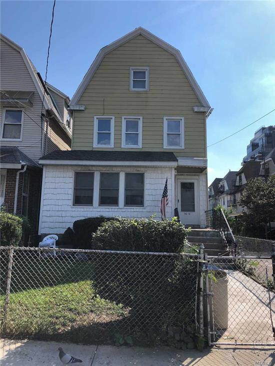 Two Family w/Extra Large Property! Located very close to all transportation including the LIRR, #7 train and Q13, Q15, Q15A, Q16 and Q28 Buses. Also two avenues to Northern Blvd and blocks to Bowne Park. Lot size 25 X 150. Zoning: R4A. 1800 sq feet of additional living space available for building! For more information or to schedule a showing please call or email. House sold AS-IS!
