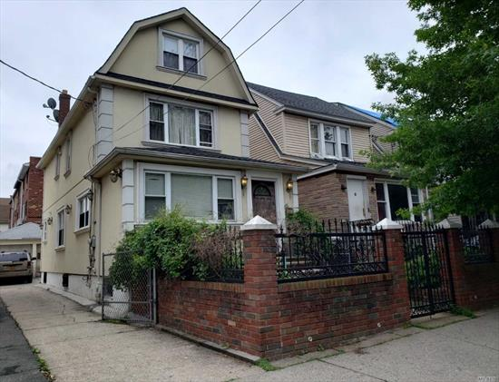 Beautiful One Dwelling House In The heart Of Elmhurst. 3 Year Old Roof + Window House Is In A Excellent Condition, few blocks From Queens center Mall, Transportation, Library.
