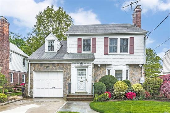 Dream Location - Mid Block Colonial featuring 3 Bedrooms, 1.5 Bathrooms and wood floors throughout. Entry foyer connects to a formal living room with fireplace. The Eat-in Kitchen with breakfast nook maintains a spacious kitchen area leading to a formal dining room and sitting room. On the second floor there are 3 Bedrooms and a full bath. The house has central air for personal comfort. Nicely landscaped.