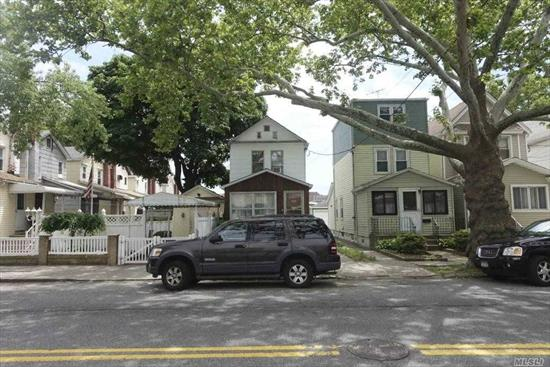 All information provided is deemed reliable, but is not guaranteed and should be independently verified. Detached 1 family in South Ozone Park. Livingroom, Diningroom, Eat-in-kitche, 2 bedrooms, 1 bath, full finished basement, party driveway.