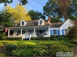 Completely updated and ready for Summer. Beautifully appointed and maintained large Cape located in the desirable Mill Neck Estates community. Beach themed home has it all ,  summer porch , deck,  private beach rights and fabulous winter views to Connecticut. High end chefs Kitchen completes this perfect setting for the discerning buyer.