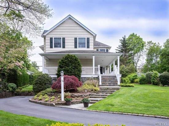 Front Porch Colonial with High ceilings, large rooms and wonderful architectural details. Built in 1998, this home exudes all the qualities of a classic Plandome home with all the features of the way we live today. Located steps from both the Plandome Village Green and the Plandome Field and Marine, this is a truly special home in a very special village in Manhasset.