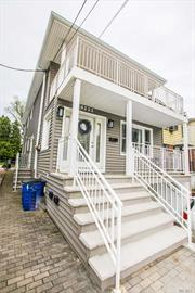 Pristine Legal 2 family (CO) located in sought after Little Neck. Both units were updated for modern lifestyle. 1st floor unit is duplex kitchen has high end SS appliances and neutral cabinets, 2nd floor apt also has high end appliances 2 bed 1 bath and w/d ready hookup, exterior sidings and roof updated 2018. Garage, Beautiful backyard for entertaining. Short distance to LIRR, public transportation, SD26, shopping. Move In ready.