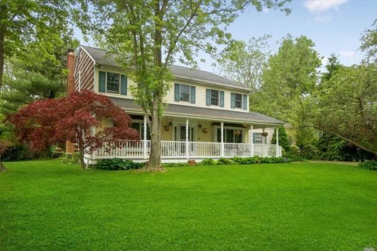With A Charming Front Porch, This Beautiful Colonial Sits At The End Of A Quiet Cul De Sac On An Acre Of Property In Harborfields SD. Features Include A Spacious Kitchen w/SS Appliances, Butler's Pantry, Mudroom, Main Floor Laundry, Master Suite W/Walk-In Closet & Updated Bath, Finished Basement, Plus A Spectacular Sunroom That Enjoys The Outside While Inside.Fenced Yard Offers Privacy & Outdoor Living W/Patio, Firepit & Room For Pool. Taxes Expect $6, 647 Reduction For 2019/2020 Per Grievance Company.