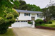Desirable Smithtown West 4 Bedroom, 1.5 Bath High Ranch. Gas Heating & Cooking, Updated Roof, Siding Windows, CAC & HW Heater. Enclosed Deck W/Ramp, 2 Car Garage & In-ground Sprinklers. Level .50+ Acre Property. Make It Your Own. Sold As Is. Close To Shopping, Schools, Transportation & Major Highways. Taxes W/Star $10, 869.