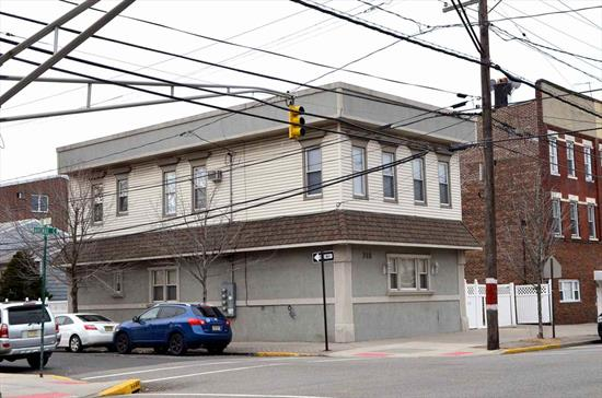 Great investment, Excellent location ,  3 Fmaily house on ave C corner of 13 street on over size double lot with parking lot , first fl Duplex apartment with 4 bedroom and 2 bathroom 2 nod floor is 2 apartments each units has 2 bedroom and one full bathroom close to school shopping light rail park
