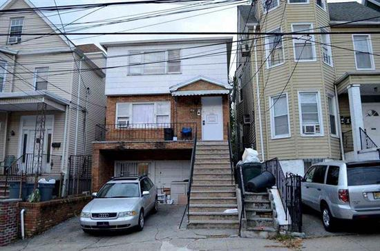 ATTENTION INVESTORS!!! GREAT OPPORTUNITY TO OWN A LEGAL 3 FAMILY PROPERTY JUST BLOCKS FROM BLVD EAST. YOU WILL NEVER HAVE DIFFICULTY RENTING AN APARTMENT WHEN YOU ARE MINUTES AWAY FROM NYC VIA BUS OR FERRY, SCHOOLS WITHIN CLOSE DISTANCE, SHOPPING STEPS AWAY, OWNER PAYS WATER & SEWER, TENANTS PAY THEIR OWN ELECTRIC, HEAT, HOT WATER AND COOKING GAS.