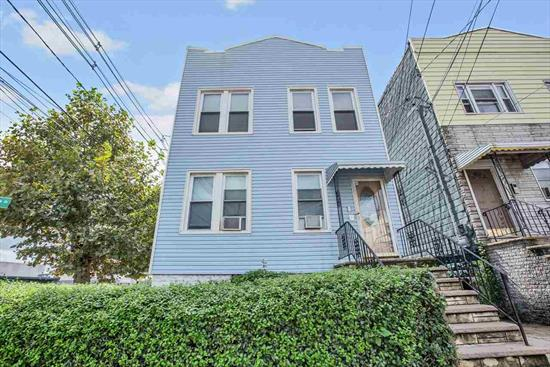 Amazing investment opportunity in the up-and-coming Bergen-Lafayette area of Jersey City! This is a 4-Family building with 3-2BR/1BA units, 1-1BR/1BA unit, on a corner lot. Full, walkout basement is partially finished & includes laundry, plus additional half bath. Also includes a private driveway and backyard. Perfect for commuters, with LightRail & NJ Turnpike on-ramp just 2 blocks in either direction. Minutes to Liberty State Park & Berry Lane Park.