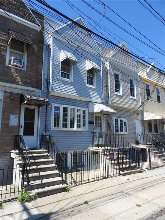 Make this newly renovated one family home in the sought-after West Bergen neighborhood of Jersey City your new home! This 2 bedroom/1.5 bath duplex home comes complete with large open-layout living space-perfect for entertaining, brand new hardwood flooring, spacious bedrooms, new appliances, and private yard with shed. Full unfinished basement with half bath is a blank canvas for your design! In this bustling neighborhood you'll enjoy proximity to Liberty State Park, Science Center, Liberty National Golf Course, restaurants, cafes, parks, schools, buses and MLK Light Rail Station less than 500 feet away! Ideal for commuters. Schedule your tour today!