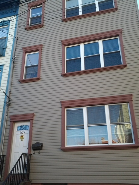 Downtown Jersey City located in Historic Village 7 minute walk to Grove Street Path. 3 family separate water tanks separate meters. Brand new Windows and Aluminum Siding and railings in front of house. A lovely private yard. All 2 bedrooms 1 bath apartment with large eat in Kitchens. CAN and will be delivered vacant