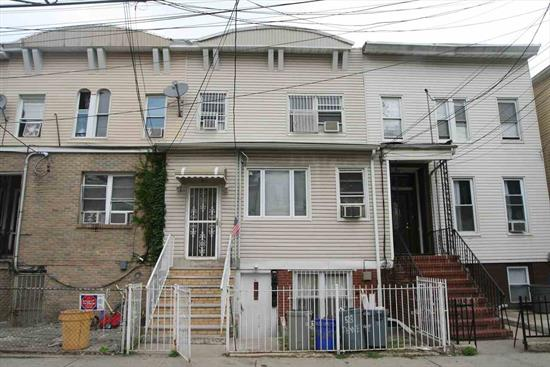 3-Family in up and coming area of Journal Square. All renovations completed in 2008 include: plumbing, electric, roof, kitchens + baths. Top 2 units are occupied. Close to transportation, buses to NYC. All separate utilities, very large backyard.