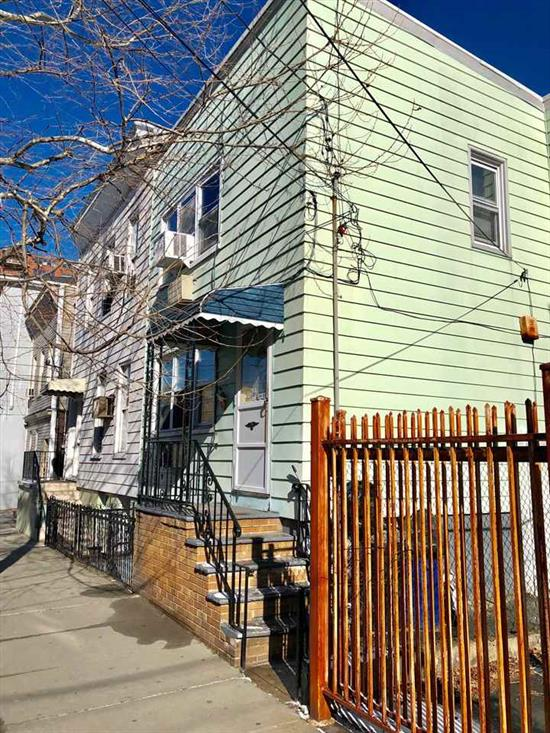Short Distance to Congress Ave Lightrail, with a few cosmetic upgrades this home can be a gem! Very popular area of Union City Downtown bordering Booming Jersey City Heights and Around the corner from the Lenox hi-rise bldg and Washington park. Tennis courts, dog run and more. Easy access to port authority 25 mins door to door. Large yard with shed, complete finished basement. Owner is a real estate agent