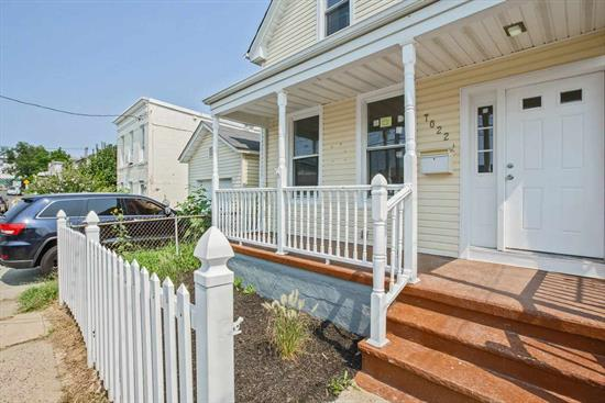 Condo Alternative! Totally renovated 2 bedroom, 1 1/2 baths. Modern kitchen w granite counter tops, SS appliances, recess lighting, hardwood flooring throughout. Central Air/Heat. This charming one family is waiting for you! Close to transportation.