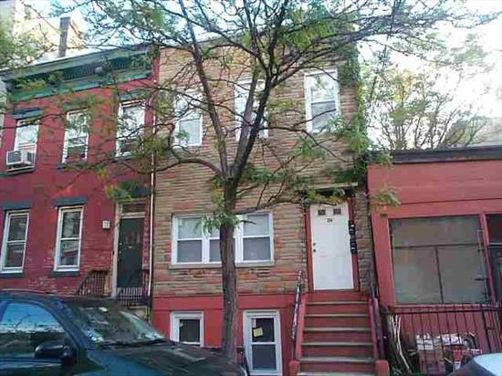 GREAT 2 FAMILY HOME WITH LOTS OF POTENTIAL FOR A 1 FAMILY HOME CORNER CONVERSION OR TO REHAB & KEEP AS A TWO FAMILY. THIS 2 FAMILY HOME CURRENTLY HAS TWO 1 BEDROOM APT. RENTALS HAS BACKYARD. LOCATED ON A BEAUTIFUL CHARMING RESIDENTIAL BLOCK IN PRIME HOBOKEN LOCATION. NEW ROOF & CHIMNEY.