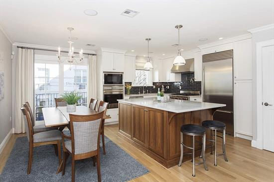 Completely renovated 3-story townhome located on one of Hoboken's most sought-after tree-lined streets, only 5 mins from historic Elysian Park & the Hudson River waterfront. Situated on a wide 20.33x75 lot, the home comes complete with the most coveted Hoboken amenity, parking for 3 cars, including a private 1 car garage & a driveway for a 2nd car. Gut renovated in 2014, including all new plumbing, electrical, framing, windows, mechanicals & insulation. Home offers 3BD/2.5BA & a 2nd living area that can also be used as a guest room, accented by a wet bar & leads to a 470SF garden patio. Ideal open plan parlor level combines living/dining/kitchen with a powder room & a deck off the kitchen/dining area. The stunning chef's kitchen features gorgeous Carrera marble, Waterworks tile, custom solid painted wood & walnut cabinetry, Wolf/Marvel/Bosch/Fhiaba appliances. 3rd floor has 3 bedrooms including the master bedroom w/ a vaulted ceiling, a custom walk-in closet & a French balcony. Spectacular marble clad bathroom w/ a double vanity & an enormous steam shower room w/ 4 showerheads & a freestanding deep soaking tub. The superior level of finish is exemplified by the quarter-sewn solid white oak floors, 3 zones of hydronic radiant in-floor heat, Marvin windows/doors, LG TrueSteam W/D, 2 zones of AC, Hunter Douglas blinds, LED recessed lighting, whole house water filtration system, custom California Closets, 3 Nest thermostats, Nest Protect, 4 LED flat screen TVs, 3 universal remotes & 10 zones of integrated SONOS audio. Ideally located around the corner from Washington St boutique shopping, restaurants & the NJ Transit bus route w/ service to Port Authority in approx 15 mins.