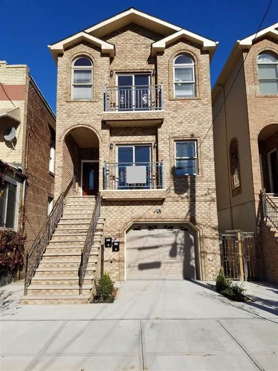 Come see this spectacular 2 family new construction house in great Jersey City neighborhood. House feature hardwood floors throughout , Stainless steel appliances: refrigerator, dishwasher, stove, microwave. Wash and dryer for each unit!