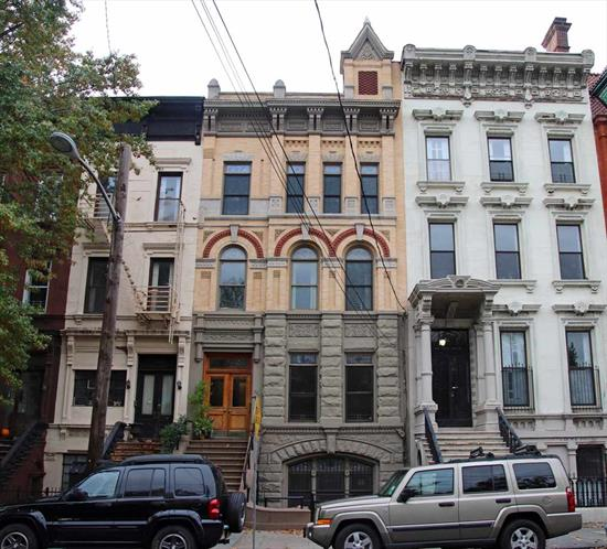4 Family 25' wide brownstone right on Van Vorst Park in Downtown Jersey City. Can be purchased alone or as a package with 314 York St a 4 family.