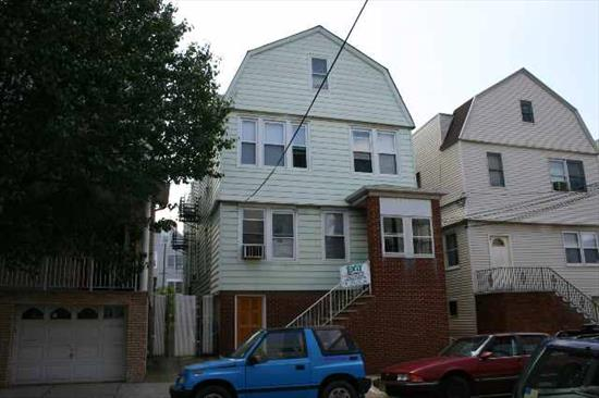 ENJOY THE BAY BEAUTIFUL LARGE 4 FAMILY, SPACIOUS APT FOR INVESTMENT OR OWNER OCCUPY. ALL APTS TOTALLY RENOVATED IN 05'-BRAND NEW SEPERATED HEAT AND HW TANKS. 2 BEDROOM ON EACH FLOOR. 2ND FLOOR FRONT 3 BEDROOMS, NEW KITCHEN CABINETS CERAMIC TILE FLOOR IN KIT AND BATHROOM. WALKOUT BASEMENT W/ FINISHED OFFICE. GREAT LOCATION CLOSE TO SCHOOLS AND PARK.