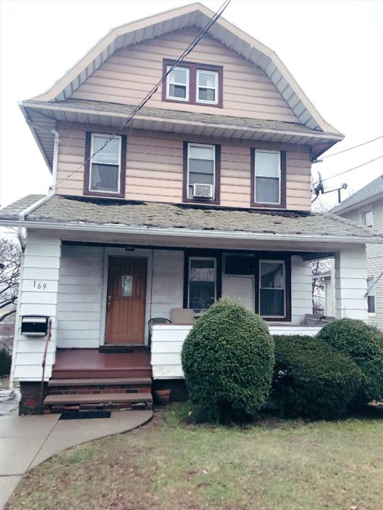Approved short sale $335, 000! Spacious 5 Bedrooms, 2 Baths one family home in desirable section. Huge deck. Needs new roof. Some updating due to old leaks from roof. Everything else, in living working condition.