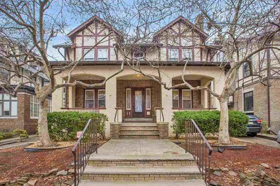 Welcome to this historic Weehawken home from 1909. Elegant & old world charm home on 50 x 100 lot with incredible details. Stunning main floor w/woodwork, stained glass, fire place & butlers walk. Second floor features 4 generously sized bedrooms, full bath, top floor with 2 bedrooms & full bath. Detached garage, parking for multiple cars. Easy commute to NYC.