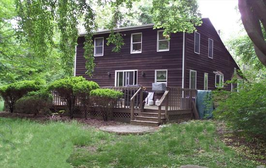 Original 1910, Built w/True Lumber Rough Cut; Upstairs & Down; Additions Added 1980s. 3/4 Bedrms, 2 Full Baths, New SS Appliances, Wood Beam High Ceilings, Skylights, Hi-Hats, Wood Burning Stove. Large Private Backyard, Wheelchair Access Ramp to Backyard Deck. Propane Dryer & Range w/90 lb gas tank. New Furnace, Boiler & HW Tank, Electric w/Generator Connection; New Cesspool, Full Bath W/Jetted Tub, 200 AMP, Unique Property W/Unlimited Potential. PLUS 13-Month Home Warranty Included!